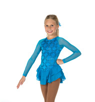 Jerry's Ice Skating  Dress 14 -  Chain Effect (Turquoise)