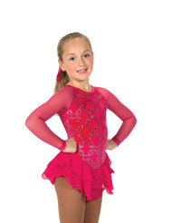 Jerry's Ice Skating  Dress 14 -  Chain Effect (Fire Pink)