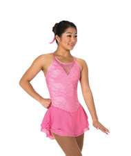Jerry's Ice Skating  Dress 66 - Lacy Bows (Clear Pink)