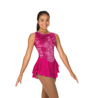 Jerry's Ice Skating  Dress 85 - Sweep of Sequins (Deep Pink)