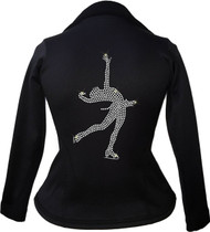 Kami-So Polartec Ice Skating Peplum Design Jacket - Layback