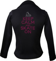 Kami-So Polartec Ice Skating Jacket - Keep Calm and skate on