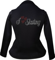 Kami-So Polartec Ice Skating Peplum Design Jacket - I Love Skating 2