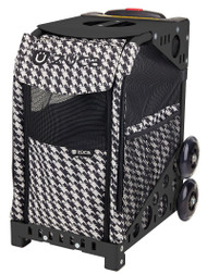Zuca Pet Carrier - Houndstooth Black
