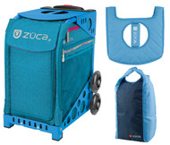 Zuca Sport Bag - Beachy Blue Heather with Gift Stuff Sack and Seat Cover (Blue Frame)