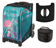 Zuca Sport Bag -  Mermaid Life with Gift Lunchbox and Seat Cover (Black Non-Flashing Wheels  Frame)
