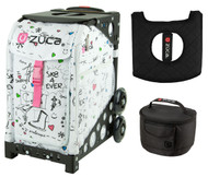 Zuca Sport Bag - SK8 with Gift Lunchbox and Seat Cover (Black Frame)