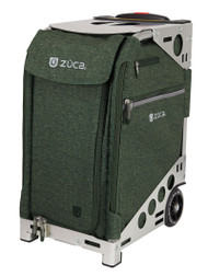 ZUCA PRO TRAVEL HEATHER BAG - HUNTER INSERT AND SILVER FRAME