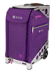 ZUCA PRO TRAVEL HEATHER BAG - PLUM INSERT AND SILVER FRAME