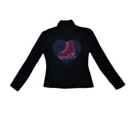 ChloeNoel Outfits - Pants P22 and J42 X Solid Polar Fleece Fitted Jacket - Love Skate (Colorfull) (Clearance)
