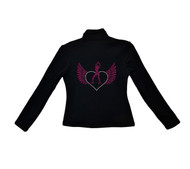 ChloeNoel Outfits - Pants P22 and J42 X Solid Polar Fleece Fitted Jacket - Love Skate (Pink) (Clearance)