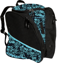 Transpack Ice - Ice skating bag (Teal Tiki Floral)