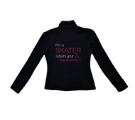 ChloeNoel - J42 X Solid Polar Fleece Fitted Jacket - I'm a Skates Whats your Superpower? (Clearance)