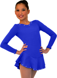 ChloeNoel DLF38 Long Sleeve Fleece Dress AB (Royal)