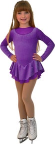ChloeNoel DLV84 Velvet WMesh 2 layers Dress (Sparkle Purple) (Closeout)