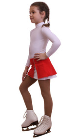IceDress - Figure Skating Skirt s -  Rogue (Red and White)