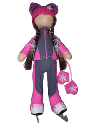 "Icedress Doll-skater in ""Bracket"" outfit (Pink)"