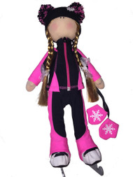 "Icedress Doll-skater in ""Bracket"" outfit (Fuchsia)"