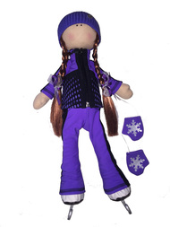 "Icedress Doll-skater in ""Jump"" outfit (Purple)"