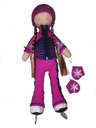 "Icedress Doll-skater in ""Jump"" outfit (Fuchsia)"