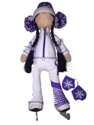 "Icedress Doll-skater in ""Euler"" outfit (White)"