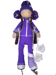 "Icedress Doll-skater in ""Euler"" outfit (Purple)"