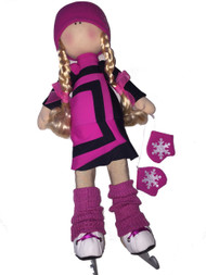"Icedress Doll-skater in ""Avangard"" dress (Fuchsia)"