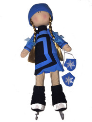 "Icedress Doll-skater in ""Avangard"" dress (Blue)"