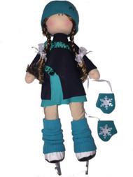 "Icedress Doll-skater in ""Lasso"" dress (Mint)"