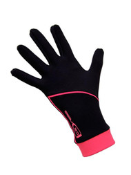 "Icedress - Thermal Figure Skating Gloves ""IceDress"" (Black and Hot Coral)"