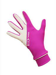 "IceDress - Thermal Figure Skating Gloves ""IceDress-Sport"" (White and Hot Pink)"