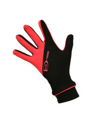 "Icedress - Two Color Thermal Figure Skating Gloves ""IceDress-Sport"" (Black and Hot Coral)"