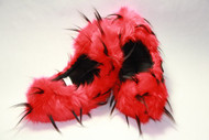 Crazy Fur Soakers CF02RB - Red and Black