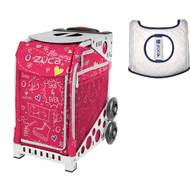 Zuca Sport Bag - Pink SK8 with Gift  Seat Cover (White Frame)