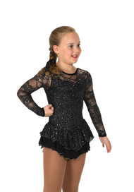 Jerry's Ice Skating  Dress 193- Love & Lace  (Jet Black)
