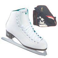 Riedell 2015 Model 10 Opal / 110 Opal Ice Skates and a FREE Atlanta Olympics Skates Bag