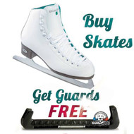 Riedell 2015 Model 10 Opal / 110 Opal Ice Skates and a FREE Skate Guards