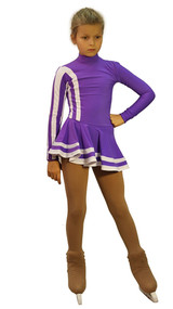 IceDress Figure Skating Outfit - Thermal - Star (Purple and White)