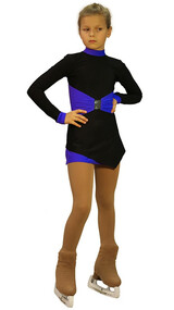 IceDress Figure Skating Outfit - Thermal - Oriental-2 (Black and  Cornflower blue)