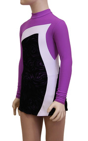 IceDress Figure Skating Dress-Thermal -  Charlotte (Purple and White)