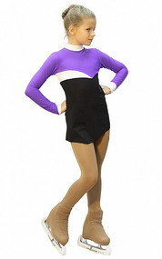IceDress Figure Skating Dress - Thermal - Todes (Purple, Black and White)