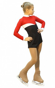 IceDress Figure Skating Dress - Thermal - Todes (Red, Black and White)