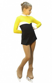 IceDress Figure Skating Dress - Thermal - Todes (Yellow, Black and White)