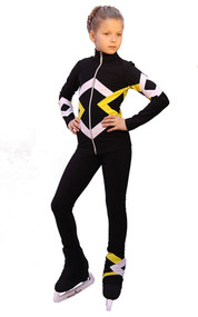 IceDress Figure Skating Outfit - Thermal - Bauer (Black, Yellow and White)