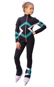 IceDress Figure Skating Outfit - Thermal - Bauer (Dark gray, Mint and White)