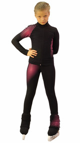 IceDress Figure Skating Outfit - Thermal -Disco (Black and  Raspberry)