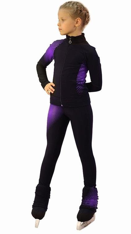 IceDress Figure Skating jacket -Disco (Black and Violet)