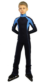IceDress - Figure Skating Training Overalls -  Axel (Gray and Blue)