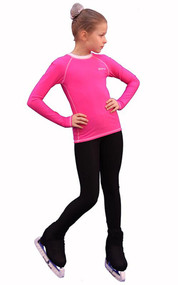 IceDress - Figure Skating Longsleeve (Pink with White)