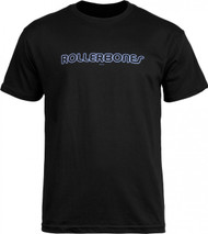 Rollerbones Men's Neon T-shirt Black (Small)